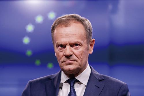 圖為歐洲理事會主席圖斯克。(AFP)