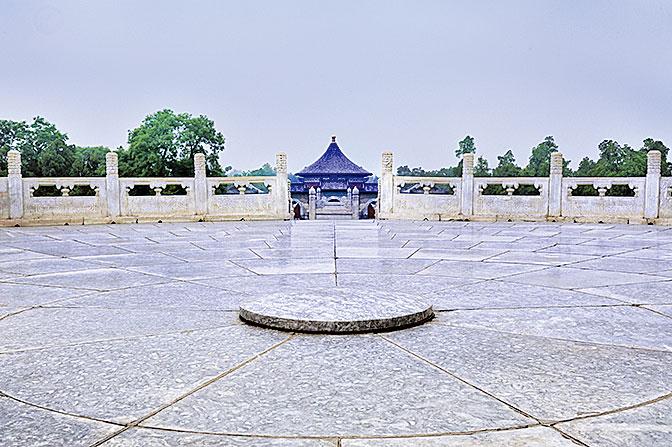 天壇圜丘的天心石。(大紀元資料室)