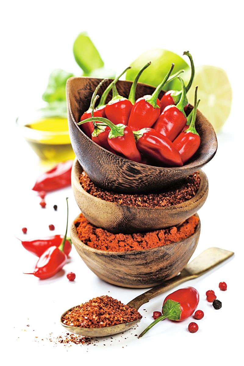 辣椒裏面的辣椒素,含有豐富的生物鹼和維他命C。