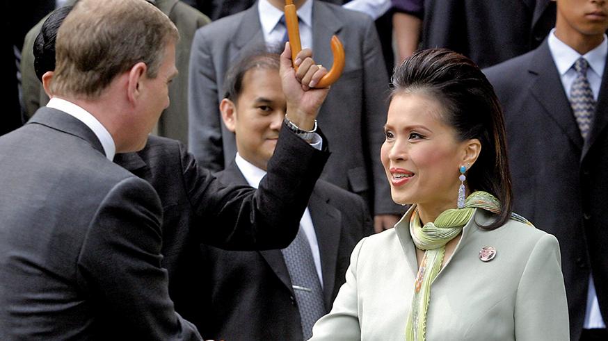 有意參選總理的烏汶叻公主(圖右),因泰王反對而作罷。