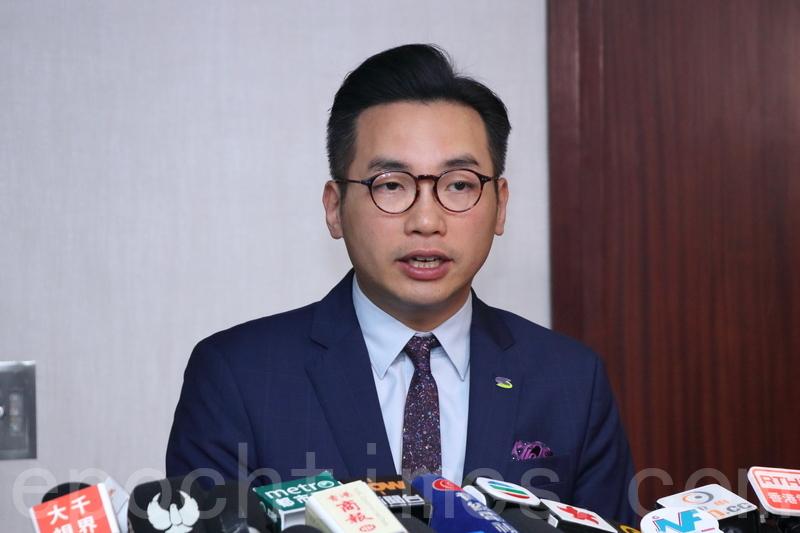 公民黨黨魁楊岳橋表示,該黨立法會議員不會出席中聯辦團拜。(蔡雯文/大紀元)