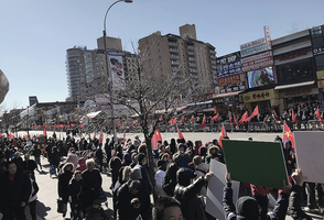 法拉盛新年遊行 紅旗「占街」