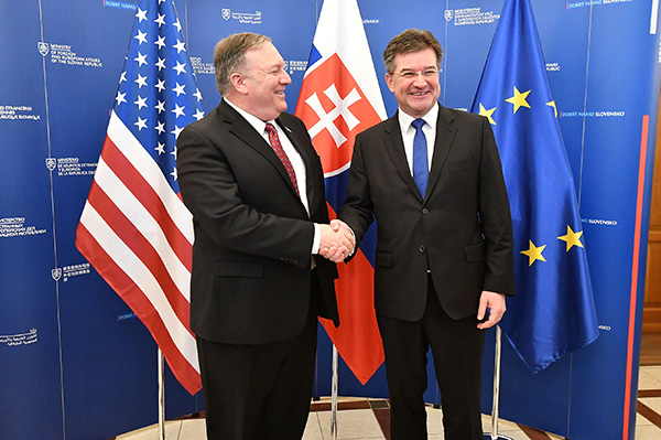 蓬佩奧籲中東歐警惕中俄干預