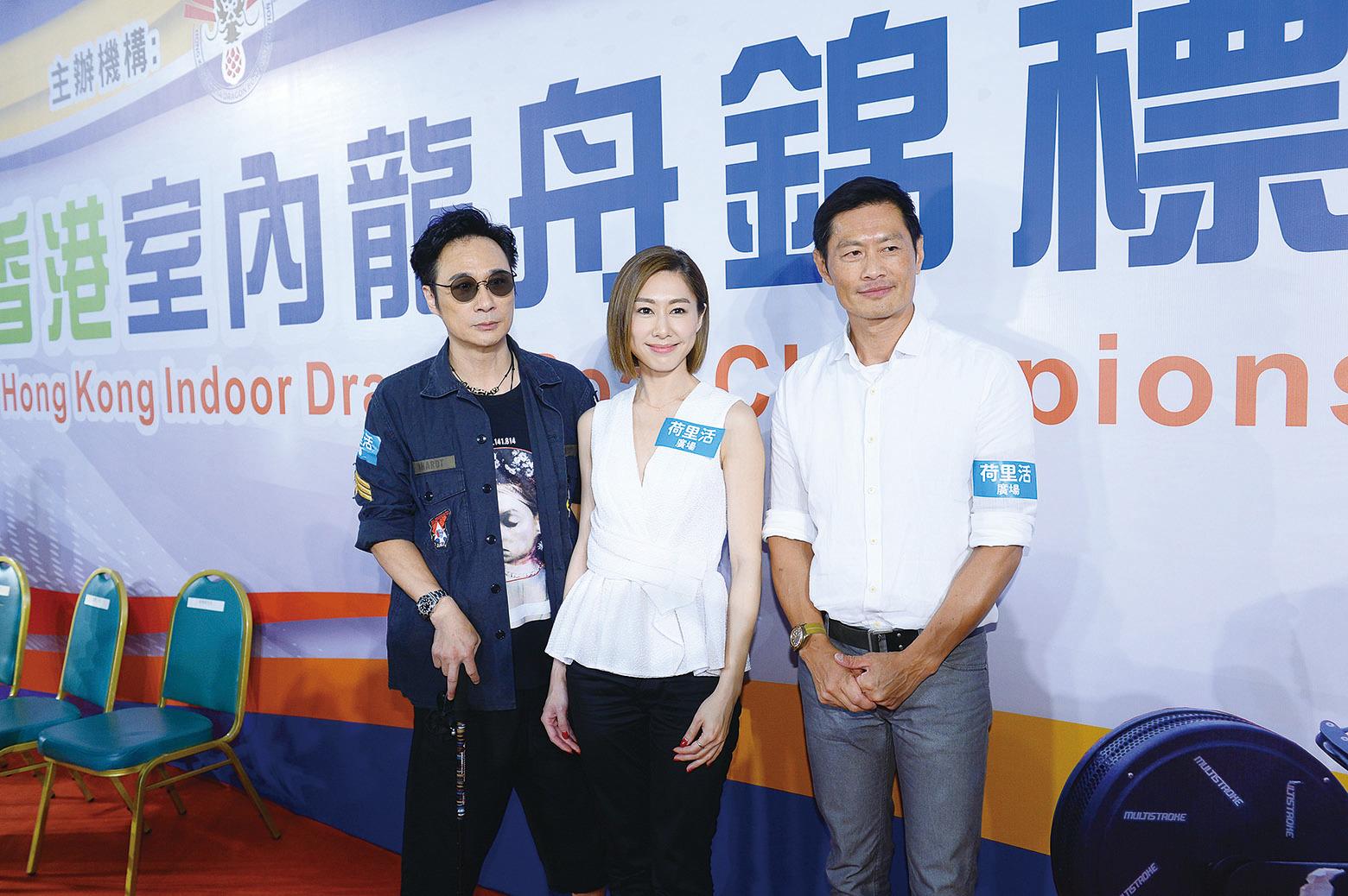 吳鎮宇(左)《逆流大叔》有份角逐最佳男主角,胡定欣(中)被提名最佳新演員,兩人均是好戲之人。(資料圖片)