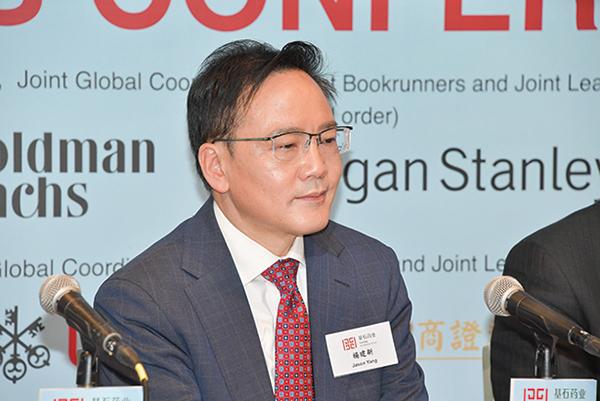 基石藥業首席醫學官楊建新,曾入選中共千人計劃。(郭威利/大紀元)