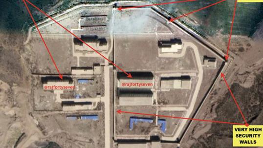 印度The Print網站以衛星圖片證實西藏設有「再教育營」,至少有3個這種設施被辨識出來。(網絡圖片)
