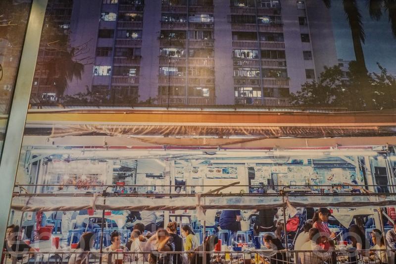 陳根記在禾輋邨冬菇亭時的相片。