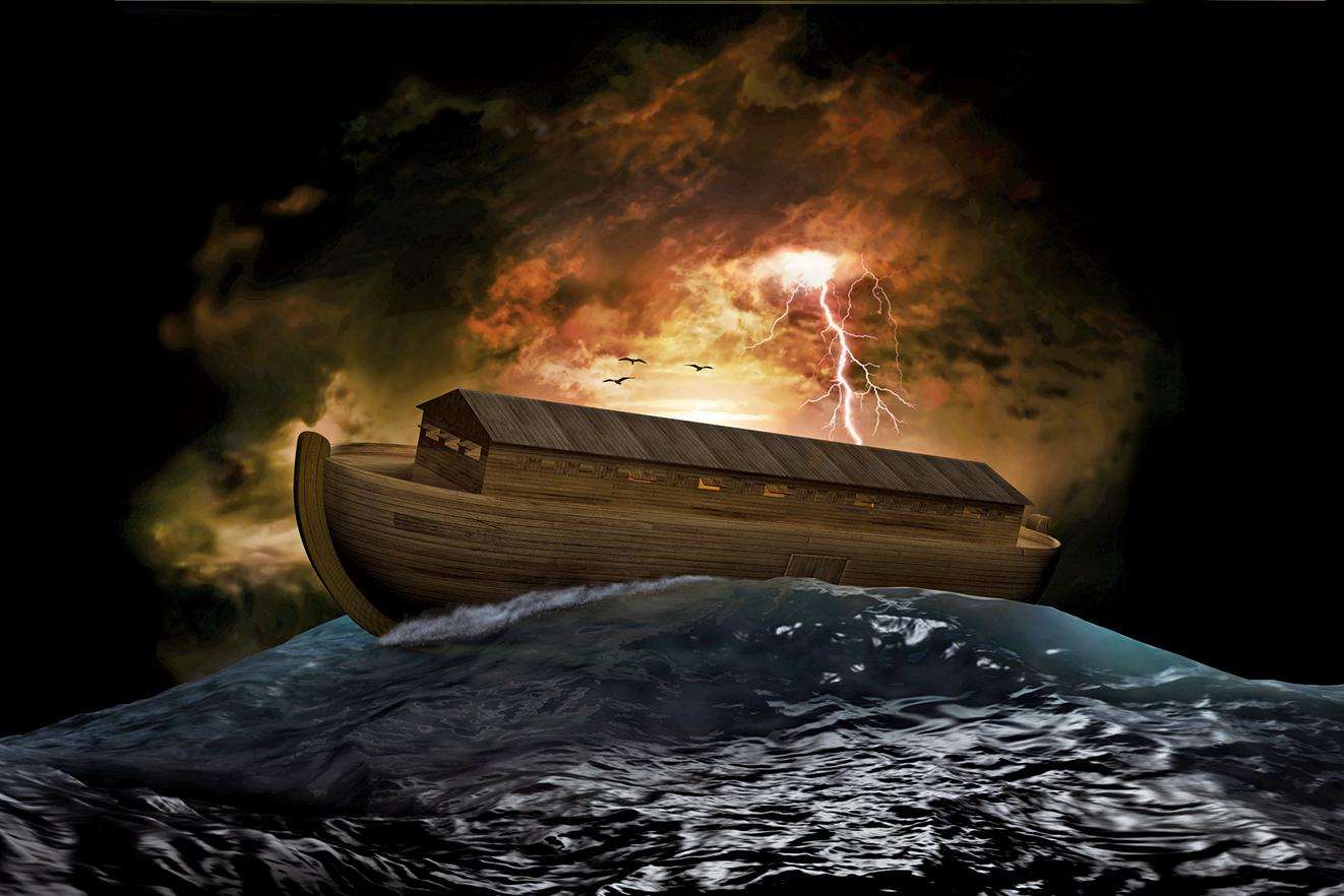 美國中央情報局(CIA)的解密文件顯示,該局試圖透過偵察衛星尋找諾亞方舟的下落。圖為諾亞方舟的示意圖。(Fotolia)