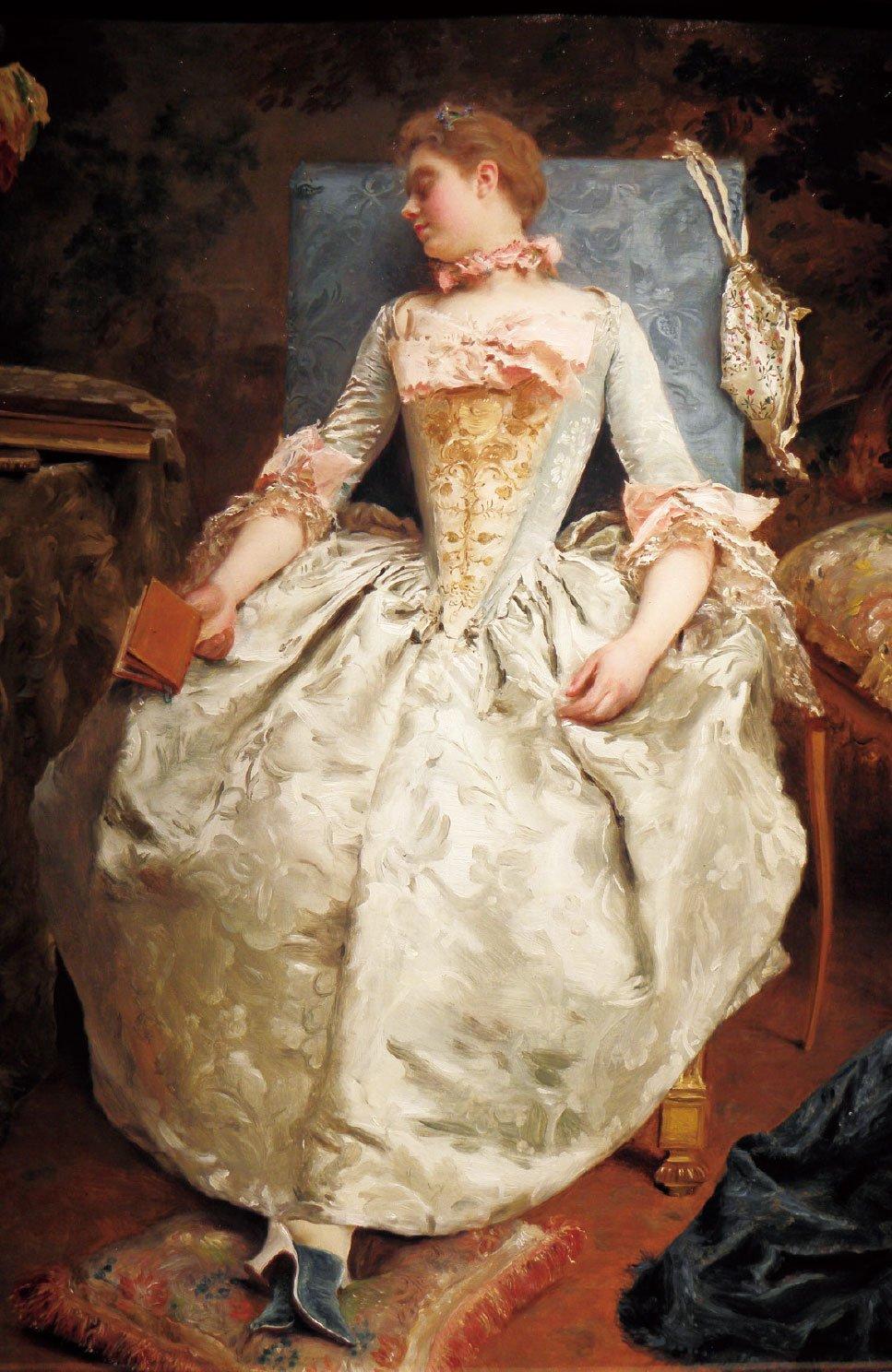 《夢》(Le Rêvé),板上油畫,40 × 30 cm。