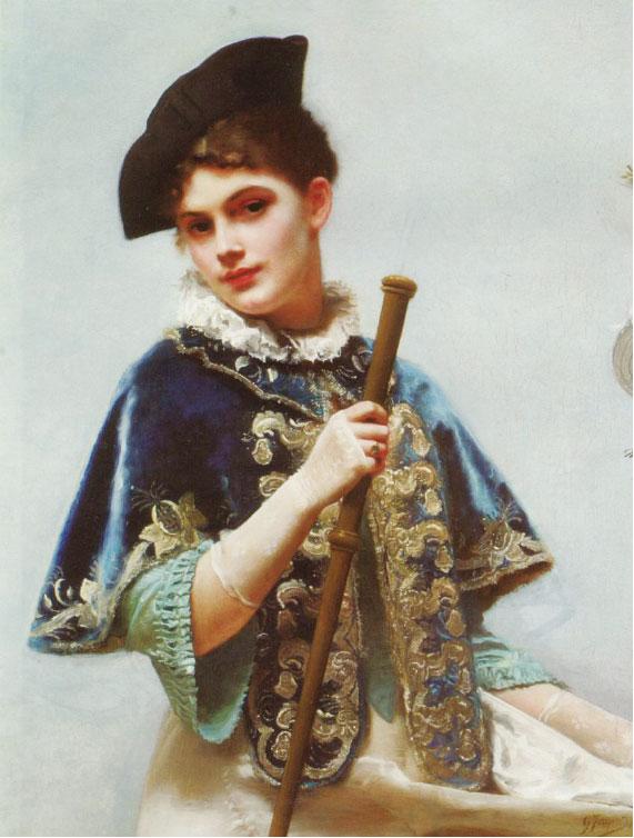 居斯塔夫雅凱,《貴婦肖像》(A Portrait of a Noble Lady),布面油畫,91 × 77 cm。