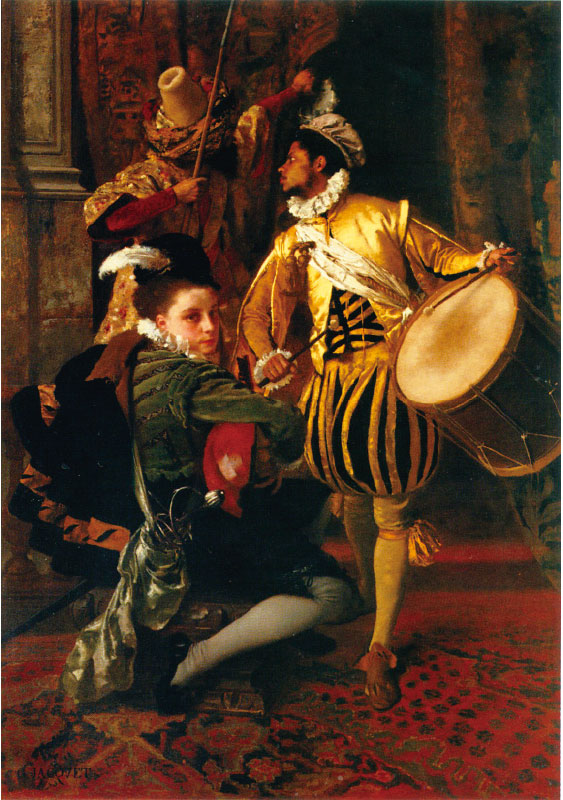 居斯塔夫雅凱,《音樂插曲》(Musical Interlude),1873年,88 × 63厘米,布面油畫。