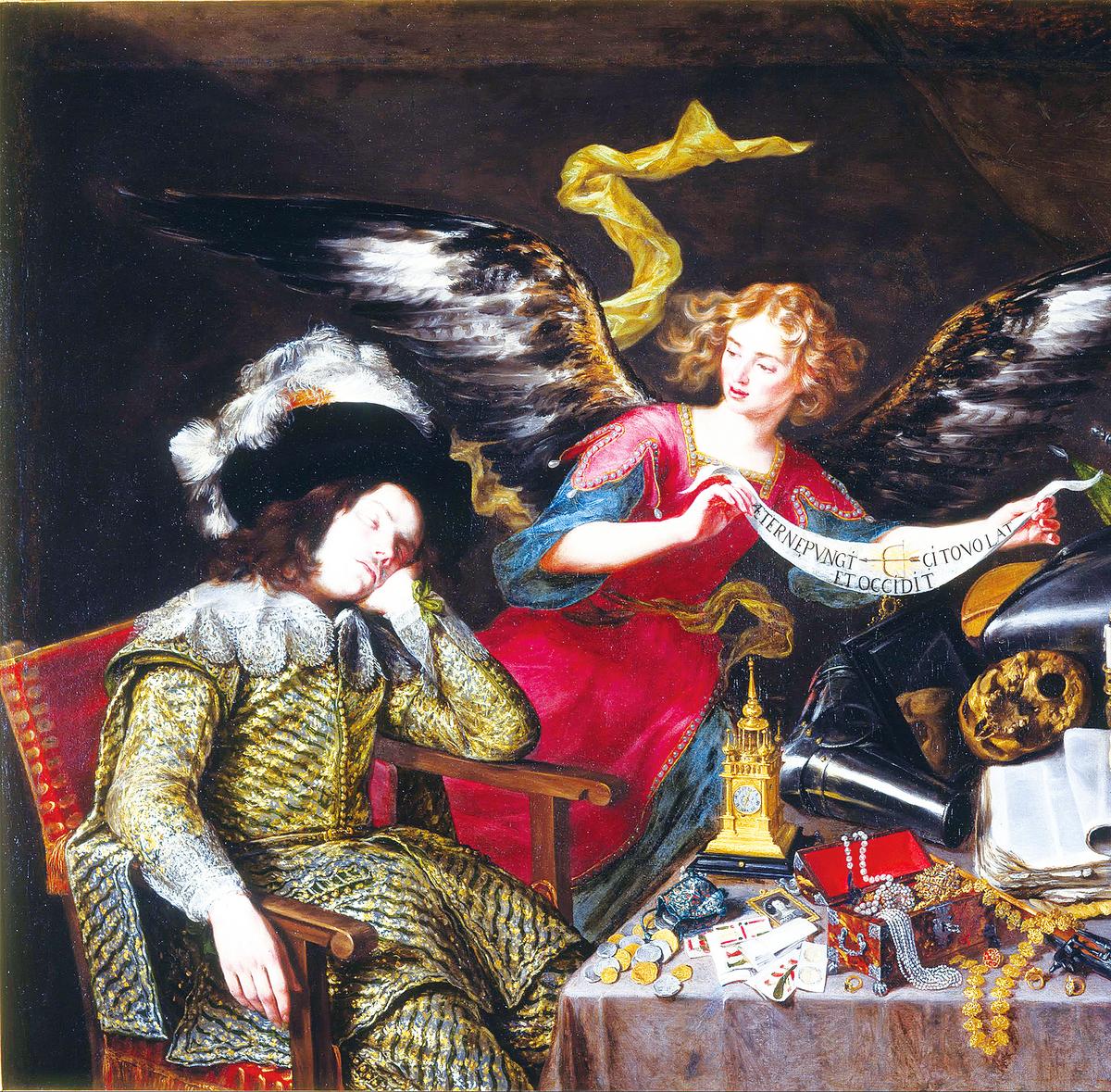 安東尼奧‧德佩雷達(Antonio de Pereda)的《騎士的夢》,約作於1655年。