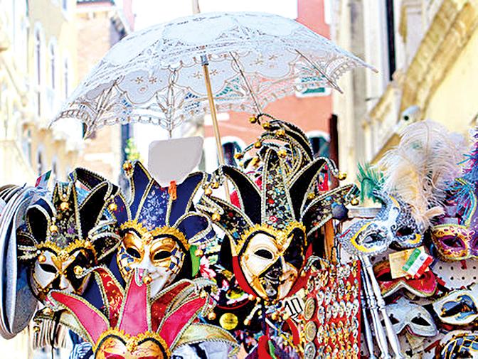 威尼斯面具節是世界3大嘉年華之一。
