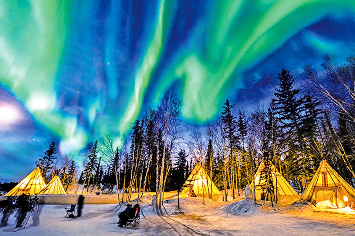 加拿大黃刀鎮,堪稱是看到極光機率最高的地方。