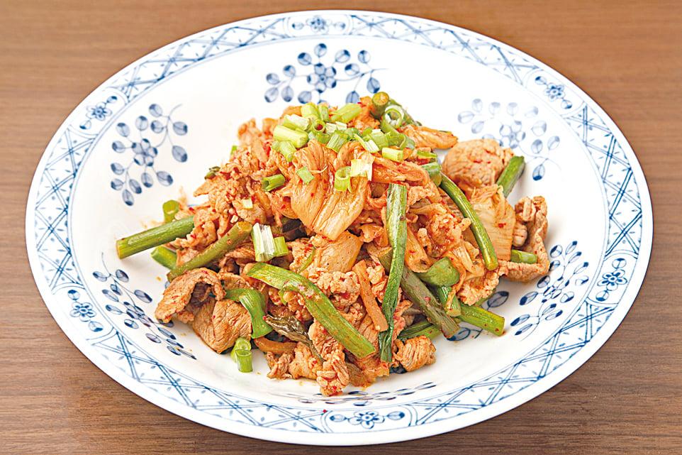 泡菜炒肉是越來越常見的泡菜料理。