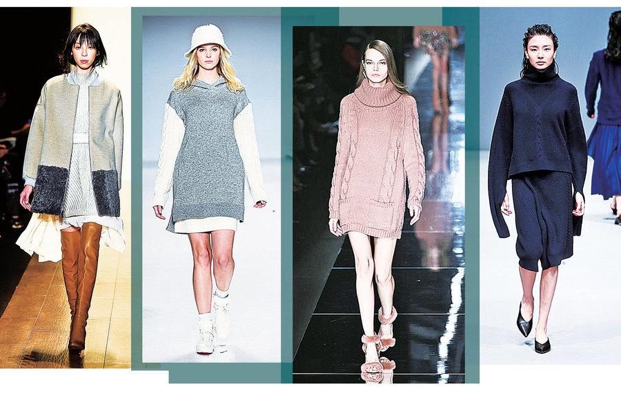 學會穿針織裙 時尚過冬天