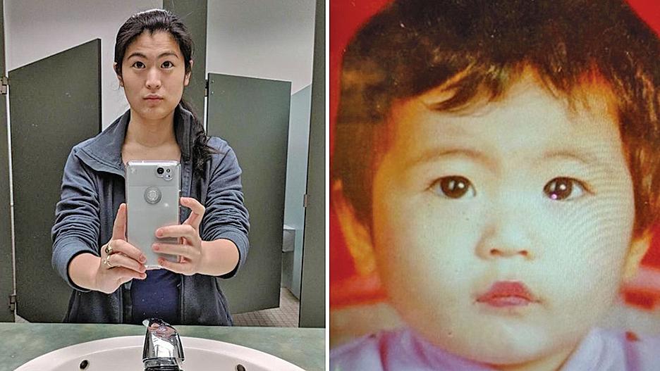 24年前被她的中國父母遺棄的女嬰,今已長大。面對親生母親的道歉,女孩說:「這是件好事。」(影片截圖)