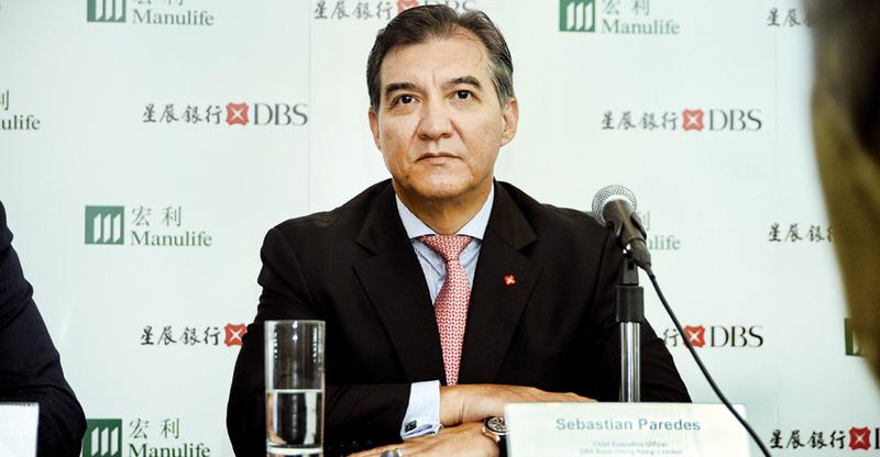 星展香港行政總裁龐華毅(如圖)預期,星展香港的零售銀行銀保業務收入於2018年會增加2倍,高端客戶的銀保業務收入會增80%。(宋祥龍/大紀元)