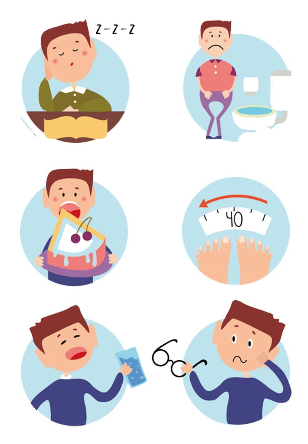糖尿病初期會出現多吃、多喝、多尿與體重減輕的「三多一少」症狀。