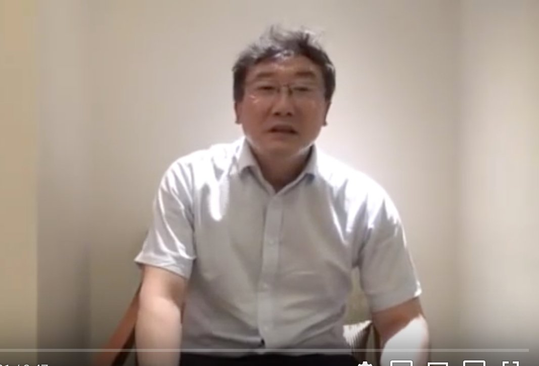 疑似最高法院法官王林清為自保,錄製影片講述事情。(影片截圖)