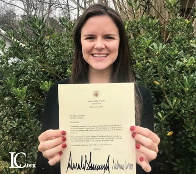女生患腦癌 美國總統夫婦寫信慰問
