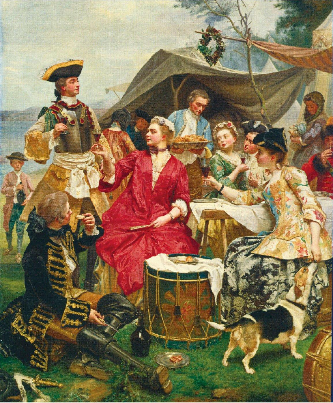 居斯塔夫讓雅凱,《歡迎》(Welcome),布面油畫,180 × 128 cm。