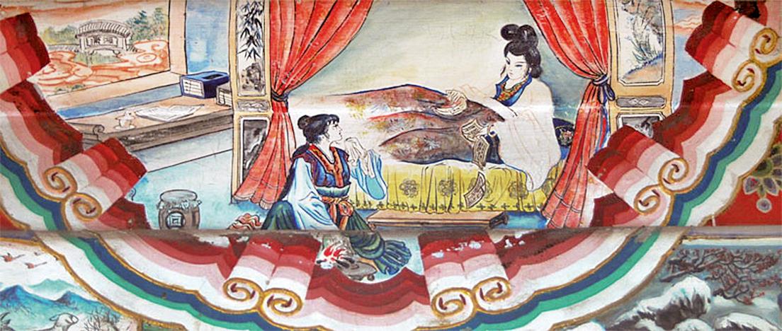頤和園長廊彩繪:焚稿斷癡情(維基百科)
