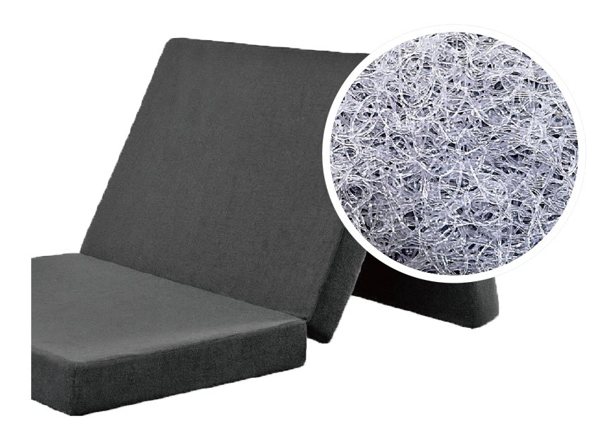 Moon Viella日本3D立體榻榻米床墊,採用三折疊床褥設計,清洗存放方便,透氣的同時承托力佳。由於床褥超輕,老人也可自己換床單。