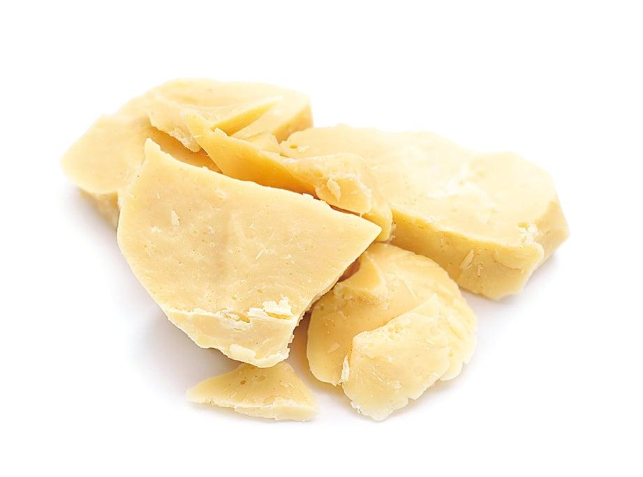 荷蘭人范荷登(Van Houten)成功將可可膏分離成可可粉和可可脂,圖為可可脂。