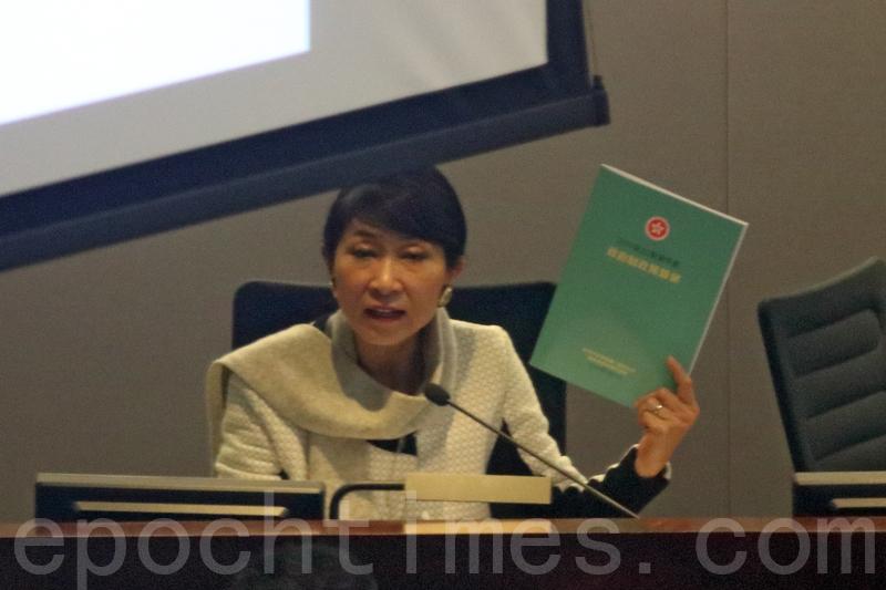 毛孟靜批評新一份預算案給人感覺就是國策優先,令人質疑香港經濟開始為「有香港特色的國家資本主義」。(蔡文/大紀元)