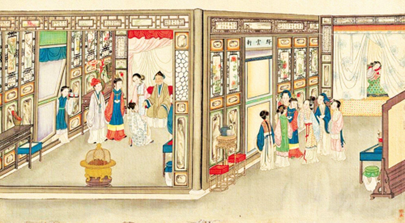 《紅樓夢》第十九回:賈元春回家省親,後來回宮之後,專門派人賞了一樣東西給賈寶玉(圖片來源:維基百科)