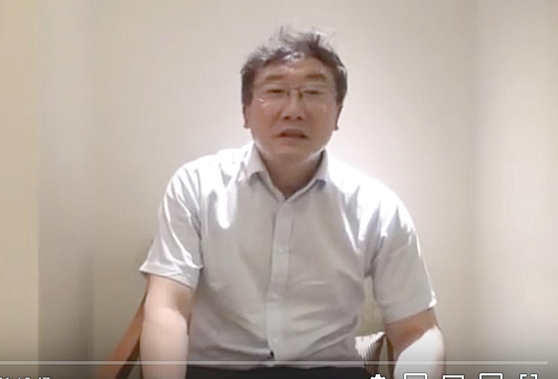 中共最高法院法官王林清為自保,3次錄製影片講述「陝北千億礦權案」卷宗丟失過程。( 影片截圖)