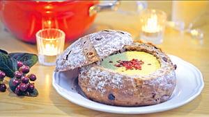 南瓜蘑菇麵包濃湯