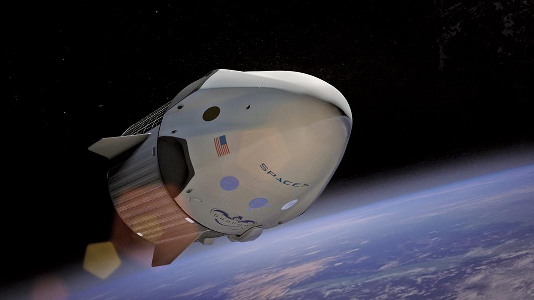 周六(3月2日)凌晨,SpaceX利用獵鷹9號(Falcon 9)火箭成功發射了一個前往國際空間站(ISS,又稱國際太空站)的載人太空艙(Crew Dragon capsule)。標誌著美國將又能夠利用自己的火箭運載自己的太空人到國際空間站。(Creative Commons)