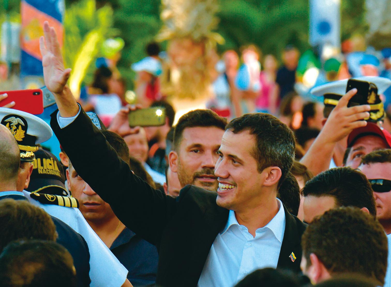 委內瑞拉臨時總統瓜伊多(Juan Guaido)3月2日呼籲對馬杜羅(Nicolas Maduro)舉行新一輪的抗議活動。(AFP)
