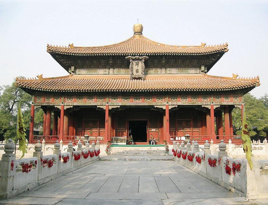 北京國子監辟雍殿。(公有領域)