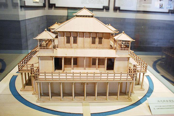 漢代時的辟雍(大學)模型,陳列於北京國子監。(公有領域)