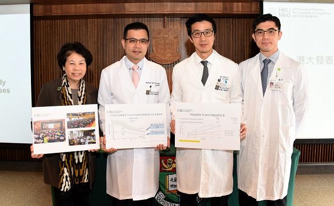 研究團隊研究證實乙型肝炎仍然是香港一種常見疾病,促請政府實施全人口乙型肝炎病毒篩查。(港大醫學院提供)