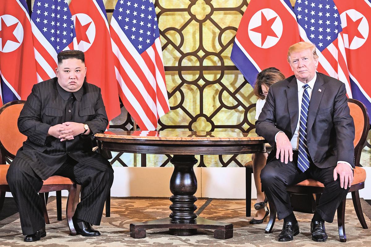 特朗普與金正恩二度會面最終未能達成協議,特朗普堅守底線,引發中共憂懼。(AFP/Getty Images)