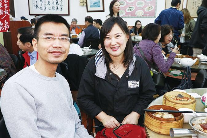 長春遊客李小姐是慕名而來,對蓮香樓港式點心讚不絕口。