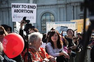 民調顯示更多美國人反對墮胎