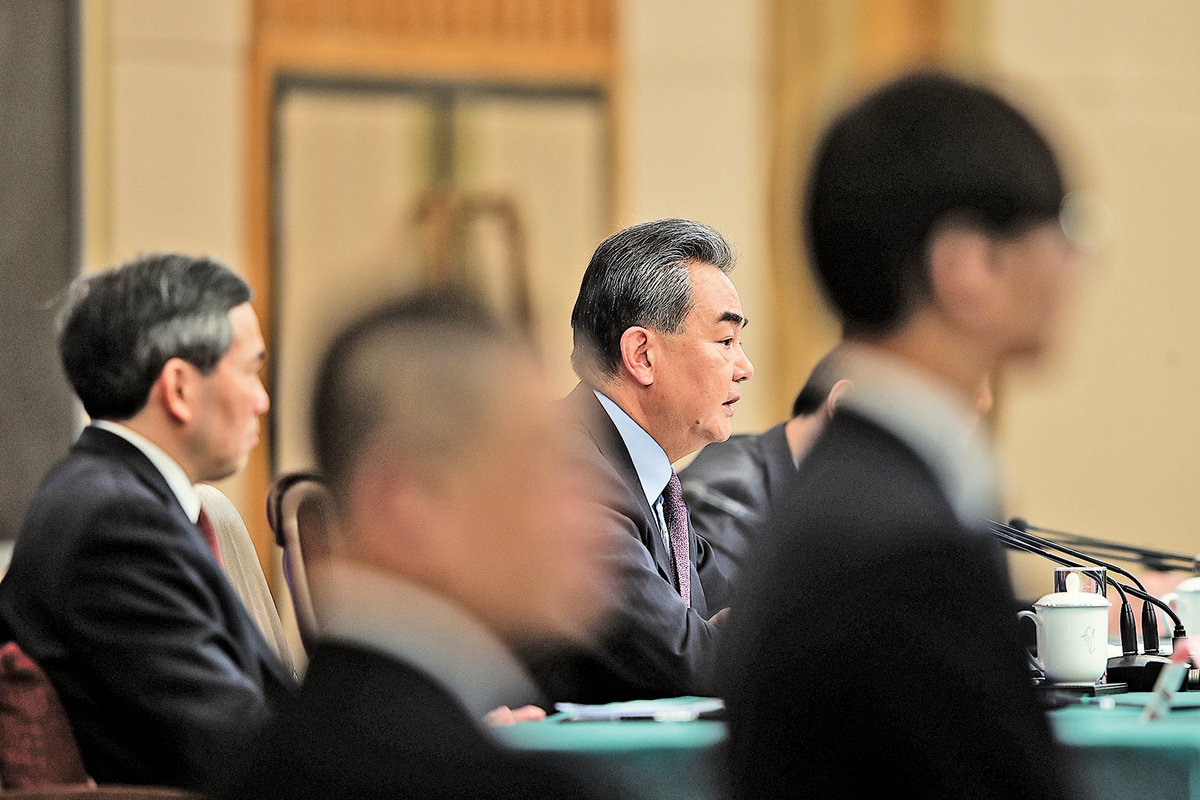 3月8日,中共外長王毅高調表態挺華為。(Getty Images)