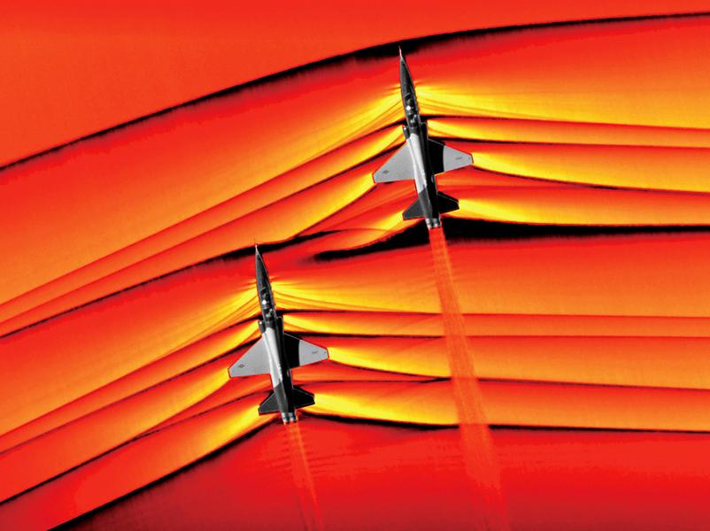 NASA首次拍到 超音速衝擊波互動