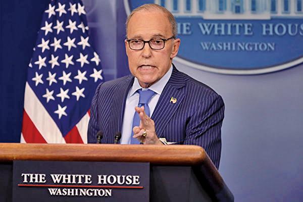 白宮首席經濟顧問庫德洛表示,中美貿易談判正在取得進展,但市場仍有憂慮。(GettyImages)