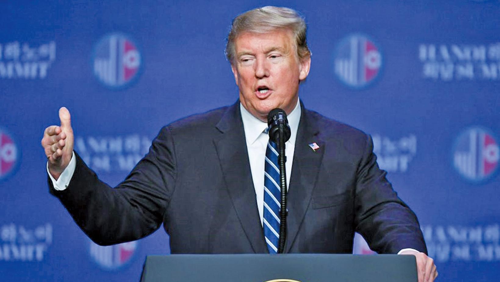 美國總統特朗普於3月11日公佈2020年度聯邦預算案。(亦平╱大紀元)