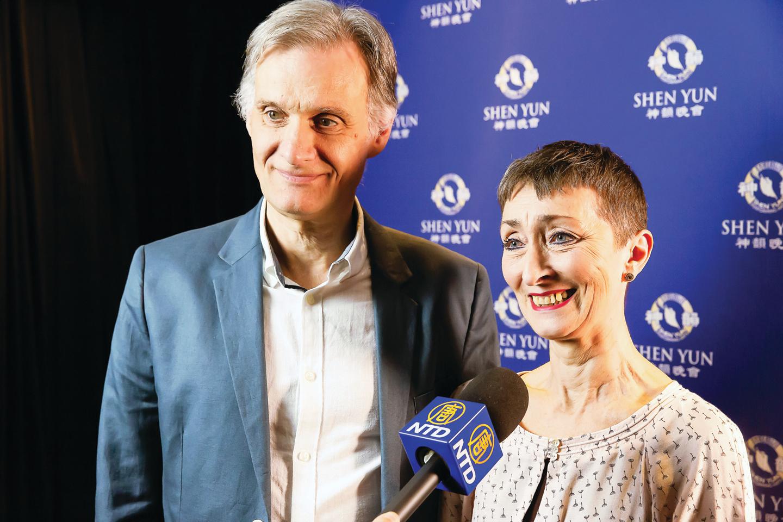 前芭蕾舞演員Wanda Koeppermann和丈夫、劇院董事及音效總監Rolf Koeppermann。(Matthias Kehrein/大紀元)