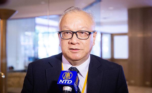 香港法輪佛學會主席簡鴻章表示,透過與各方人士交流,把中共對香港法輪功的各種打壓與迫害,反映到國際平台。(記者陳柏州/攝影)