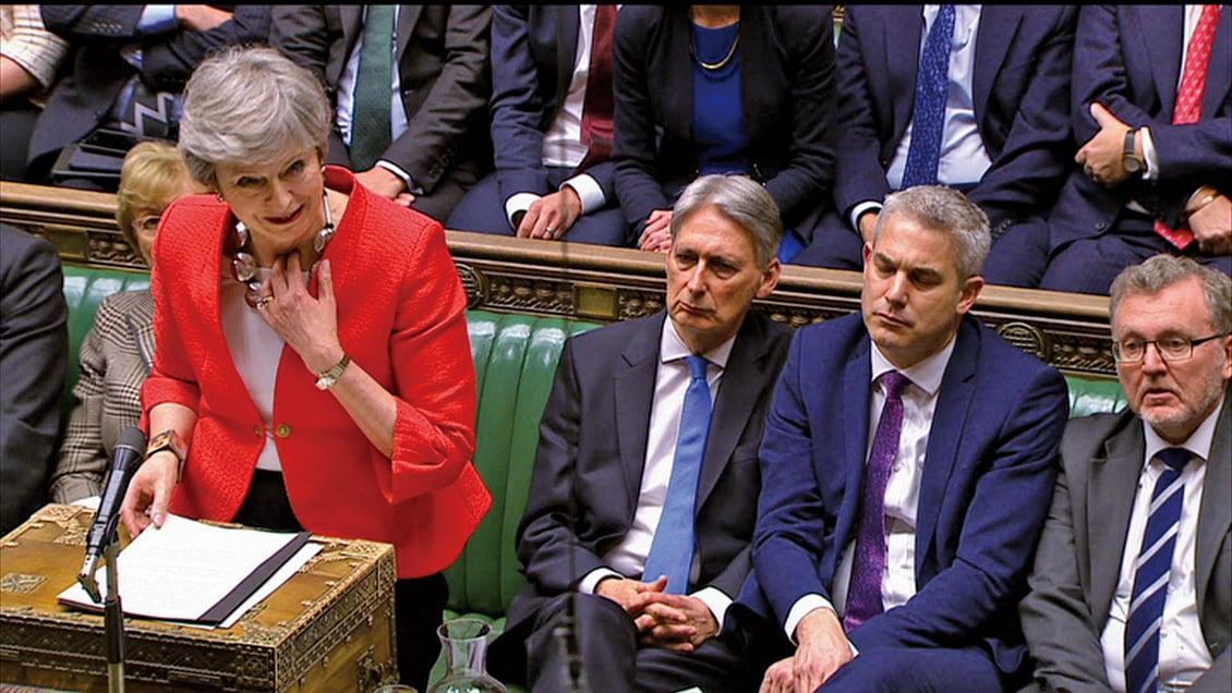 3月12日,英國議會再次否決了首相特文翠珊的脫歐協議,更加深了該國的政治危機。(AFP)