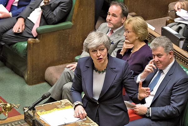 英國首相文翠珊承認大多數議員不支持無協議脫歐。(AFP)