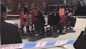 河北爆砍人事件 一男子砍傷17名小學生